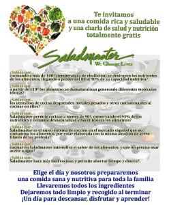 Te invitamos a una comida saludable